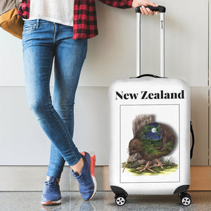 New Zealand Kiwi Luggage Cover - new zealand birds, new zealand kiwi, luggage cover, suitcase covers, accessories, online shopping