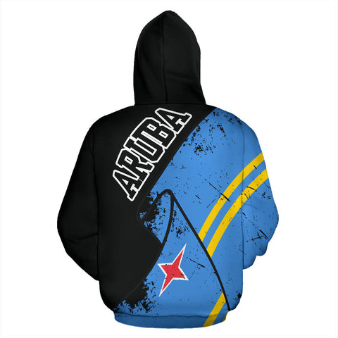 Aruba Special Grunge Flag Pullover Hoodie | High Quality | Hot Sale