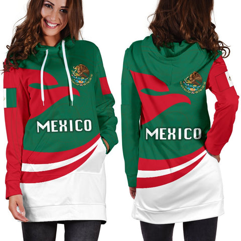 Mexico Women Hoodie Dress Proud Version | 1sttheworld