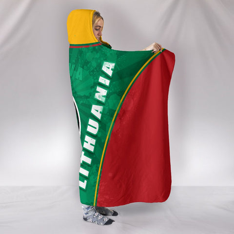 Image of Lithuania - Lietuva Hooded Blanket Circle Stripes Flag Proud Version 1 | 1sttheworld