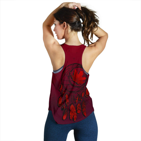 Canada Maple Leaf Dreamcatcher Women's Racerback Tank | Clothing | Love the World