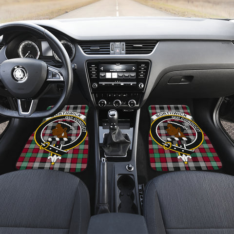 Image of Borthwick Ancient  Tartan Clan Badge Car Floor Mat 4 Pieces K7