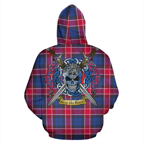 Graham of Menteith Red Tartan Hoodie Celtic Scottish Warrior A79 | Over 500 Tartans | Clothing | Apaprel