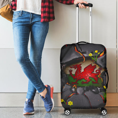 Wales Luggage Covers - Welsh Dragon Daffodil Lava | Love The World