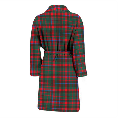 Cumming Hunting Modern Bathrobe - Men Tartan Plaid Bathrobe Universal Fit