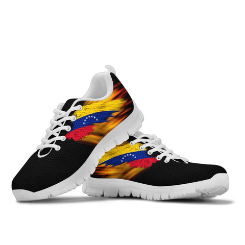 Venezuela Sneakers - Fire Wings and Flag - Seven Stars A188