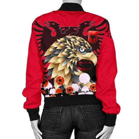 Albania Golden Eagle Women's Bomber Jacket - Happy Flag Day - BN21