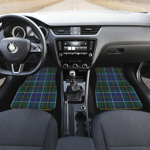 MaciNNes Modern Tartan Car Floor Mat 4 Pieces K7