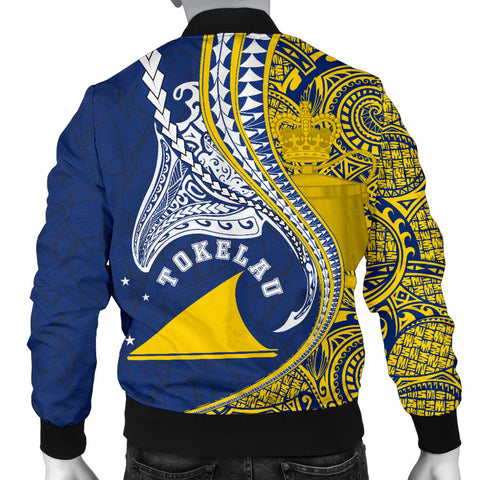 Image of Tokelau Men's Bomber Jacket Manta Polynesian TH65