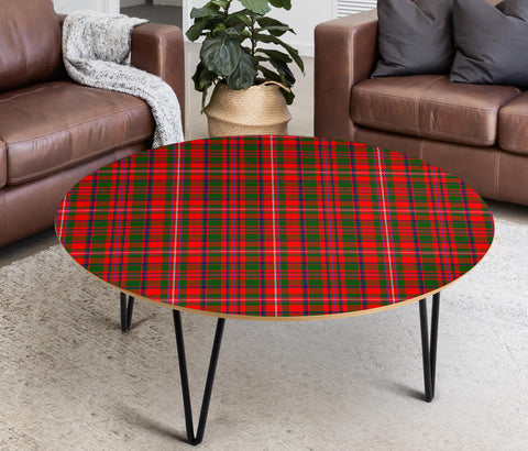 MacKinnon Modern Tartan Circular Coffee Table - BN
