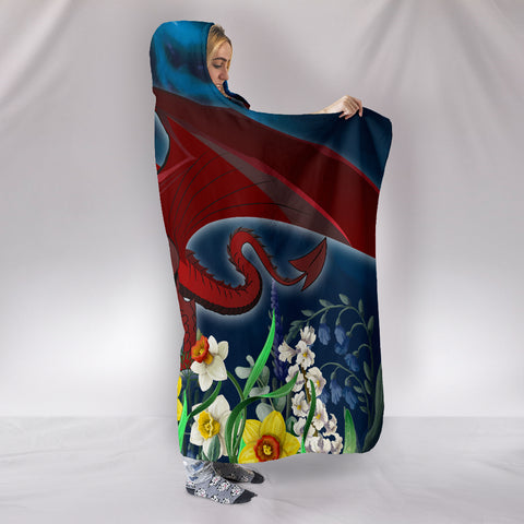 Image of Welsh Hooded Blanket - Dragon Daffodil A024
