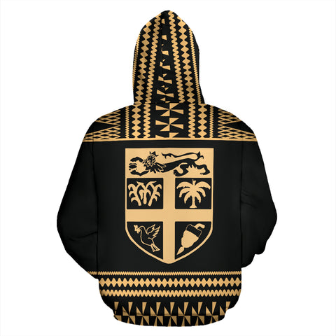 Image of Fiji Tapa All Over Zip-Up Hoodie - BN09