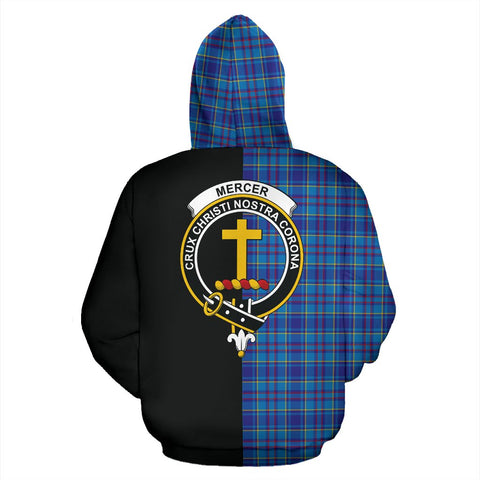 Mercer Modern Tartan Hoodie Half Of Me TH8