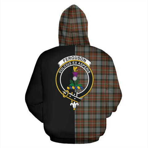 Fergusson Weathered Tartan Hoodie Half Of Me TH8