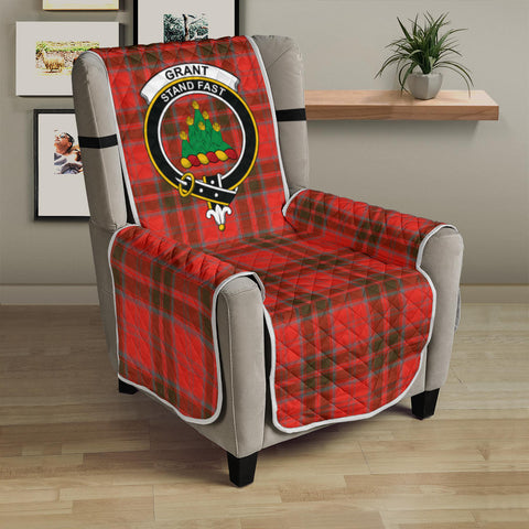 Grant Weathered Tartan Clan Badge Sofa Protector K7