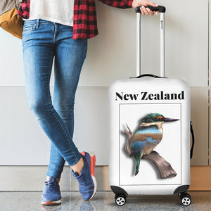 New Zealand Kingfisher Luggage Cover - new zealand birds, new zealand kingfisher, luggage cover, suitcase covers, accessories, online shopping