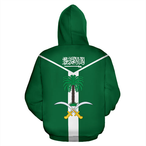 Image of Saudi Arabia Rising Zip Hoodie | Men & Women | Clothing