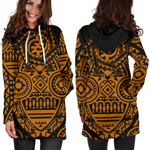 Africa Hoodie Dress - African Heritage Nyame Ye Ohene | 1sttheworld | Online Store