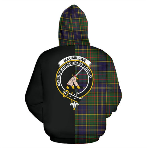 Image of MacMillan Hunting Modern Tartan Hoodie Half Of Me TH8