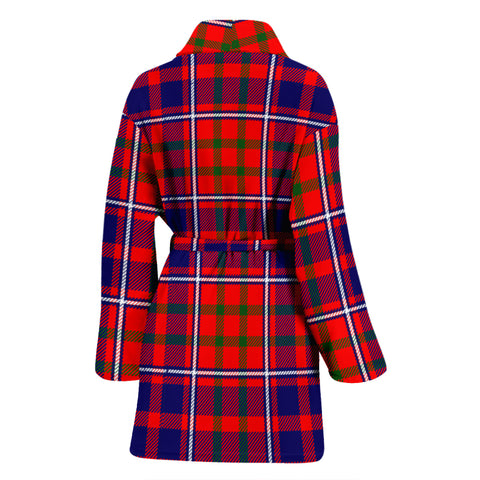 Image of Cameron Of Lochiel Modern Bathrobe - Women Tartan Plaid Bathrobe Universal Fit