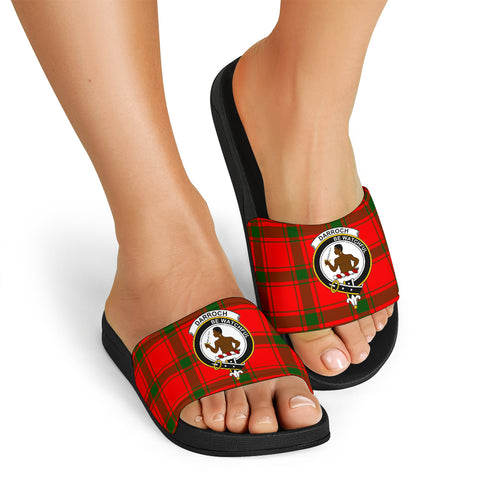 Tartan Slide Sandals - Darroch (Gourock) Clans - Black Version
