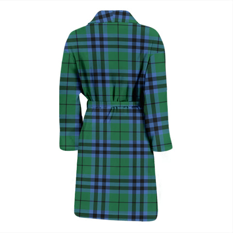 Keith Ancient Bathrobe - Men Tartan Plaid Bathrobe Universal Fit