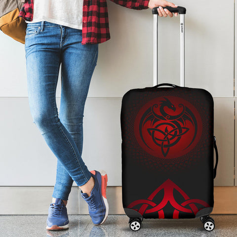 Celtic Luggage Covers - Celtic Dragon - Red