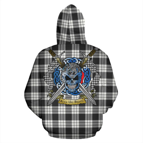 MacFarlane Black & White Ancient Tartan Hoodie Celtic Scottish Warrior A79 | Over 500 Tartans | Clothing | Apaprel