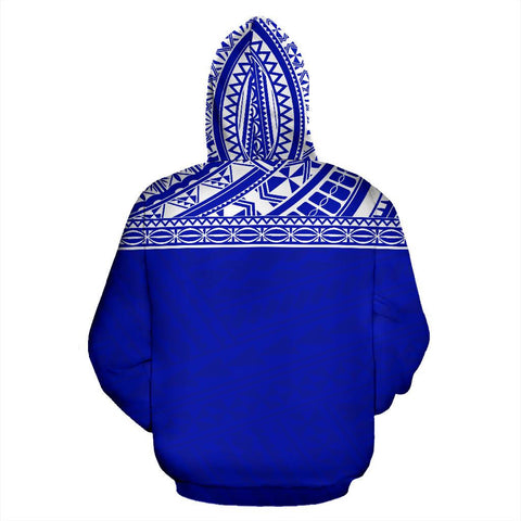 Image of Poly All Over Hoodie - Polynesian Blue Custom Version - BN09