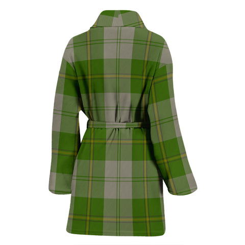 Cunningham Dress Green Dancers Bathrobe - Women Tartan Plaid Bathrobe Universal Fit
