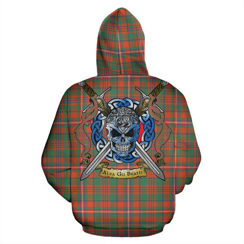 Image of MacKinnon Ancient Tartan Hoodie Celtic Scottish Warrior A79 | Over 500 Tartans | Clothing | Apaprel