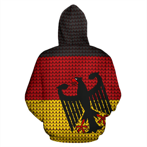 Deutschland - Germany Hoodie Flag Knitted