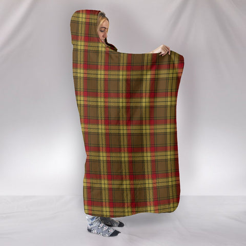 Image of MacMillan Old Weathered, hooded blanket, tartan hooded blanket, Scots Tartan, Merry Christmas, cyber Monday, xmas, snow hooded blanket, Scotland tartan, woven blanket