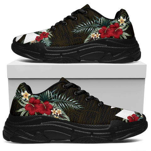 Wallis and Futuna Hibiscus (Men/Women) Chunky Sneakers A7