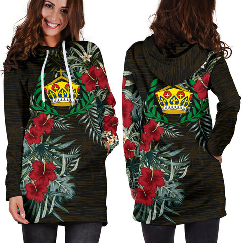 Image of Tonga 2 Hibiscus Hoodie Dress A7