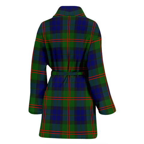 Dundas Modern 02 Bathrobe - Women Tartan Plaid Bathrobe Universal Fit