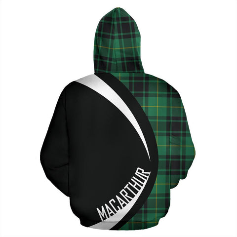 Image of MacArthur Ancient Tartan Circle Hoodie HJ4