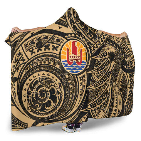 Image of French Polynesia Hooded Blanket Tattoo K4