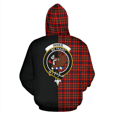 Image of Innes Modern Tartan Hoodie Half Of Me TH8
