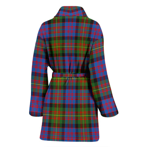 Carnegie Ancient Bathrobe - Women Tartan Plaid Bathrobe Universal Fit