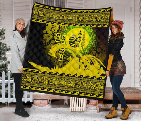 New Caledonia Quilt Wave Yellow Design K62