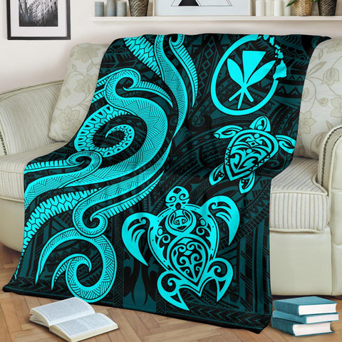 Hawaii Premium Blanket, Hawaii, Turtle, Tentacle Turtle, Hawaii Turtle