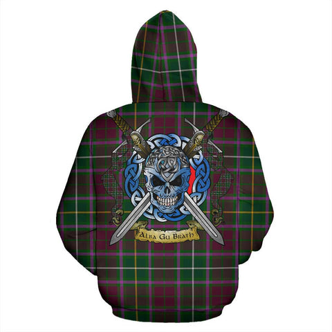 Image of Crosbie Tartan Hoodie Celtic Scottish Warrior A79 | Over 500 Tartans | Clothing | Apaprel