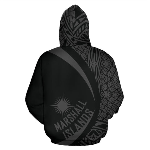 Marshall Islands Turtle Polynesian Zip Up Hoodie - Circle Style 07 J9