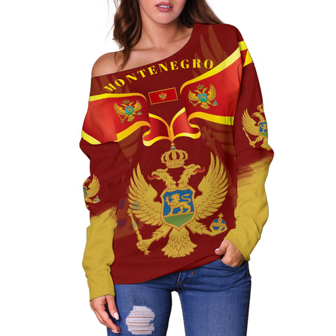 Montenegro Style Women Off Shoulder Sweater 2