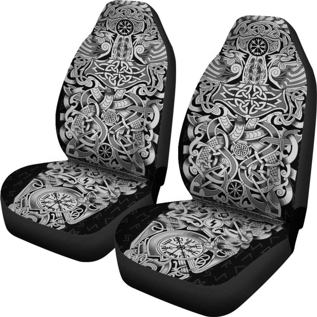 Viking Tattoo Sleeve Car Seat Covers Set Of Two High Quality