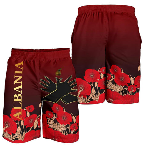 Albania Flag Double Eagle Hand Men's Shorts A15