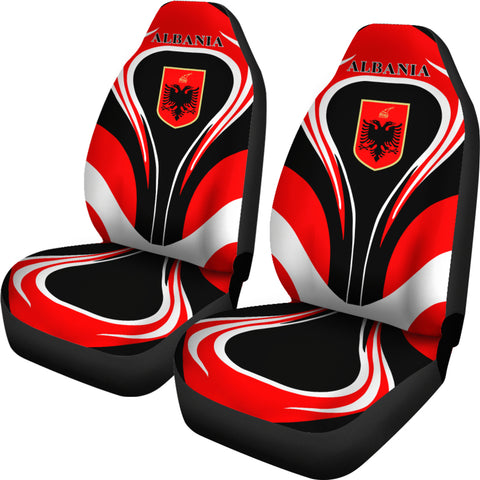 Albania Flag Car Seat Covers Cannon Style - Bn101