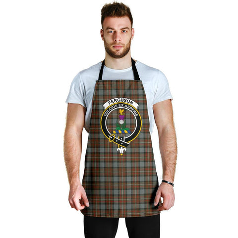 Fergusson Weathered Tartan Clan Crest Apron HJ4
