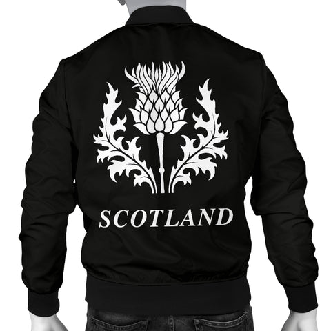 MacLeod Tartan Lion And Thistle Bomber Jacket for Men TH8